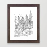 Framed Art Print featuring London! by David Bushell