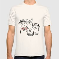 french bulldog Mens Fitted Tee Natural SMALL