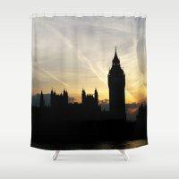 London - Big Ben Sunset Shower Curtain