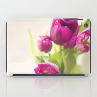 Purple Tulips In A Jar iPad Case