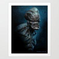 Trihead Monster Art Print