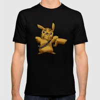 Poké Wars Mens Fitted Tee Black SMALL