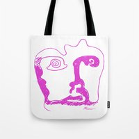 Swirl Face Line Art Tote Bag