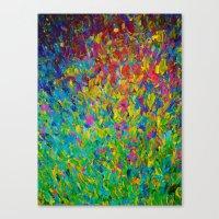 RAINBOW FIELDS - Colorfu… Canvas Print
