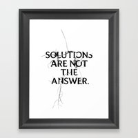 Nixon 02: Solutions Are … Framed Art Print