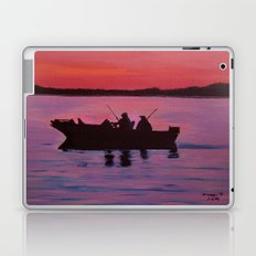 Fishing in the sunset Laptop & iPad Skin