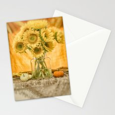 Simple Sunflowers Still Life -- Fall Colors Stationery Cards