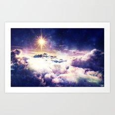 Heavenly Galaxy Clouds Art Print