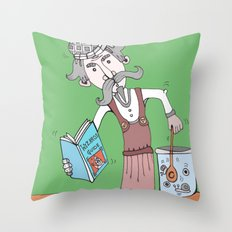 Brightly Island Mixing Potions Throw Pillow