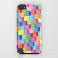 iPhone Cases featuring rainbowstep by DesignMself