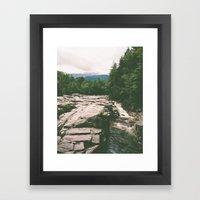 rocky gorge Framed Art Print