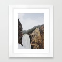 Lower Yellowstone Falls Framed Art Print