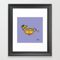 Pineapple Curry Framed Art Print