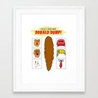 DIY Donald Dump Framed Art Print