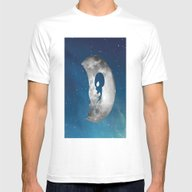 Smoking Moon Mens Fitted Tee White SMALL