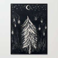 Midnight In A  Burning F… Canvas Print