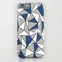 iPhone & iPod Case featuring Abstraction Lines with Navy Blocks by Project M
