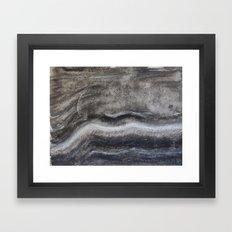 Layered Gray Waves Framed Art Print