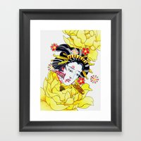 Japanese Namakubi Flower… Framed Art Print