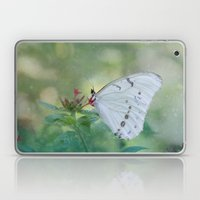White Morpho Butterfly Laptop & iPad Skin