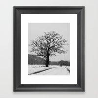 Winter Oak Framed Art Print