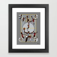 Dr. J; Illuminated Framed Art Print