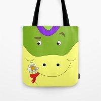 Cute snake in love children's illustration Tote Bag