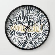Pardon My French – Bla… Wall Clock