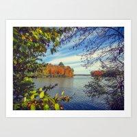 Autumn Peek-a-Boo Art Print