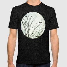 A Blue Gray Day Mens Fitted Tee Tri-Black SMALL