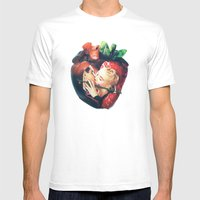 Organic | Collage Mens Fitted Tee White SMALL