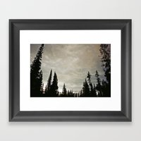 Take shelter Framed Art Print