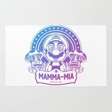 Mamma Mia Super Mario is-a Crazy Rug