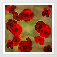 REDFLOWERS Art Print
