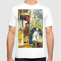 The Painter's Studio Mens Fitted Tee White SMALL