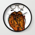 Beard Me Some Music (Color Version) Wall Clock