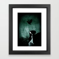12 crows/ nettles  Framed Art Print