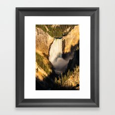 Lower Falls of the Yellowstone Framed Art Print