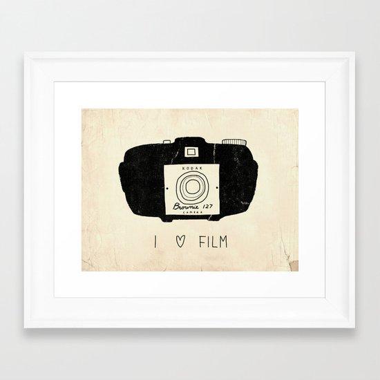 I Love Film Framed Art Print