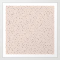 PolkaDots-Rose On Peach Art Print