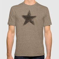 WRONG STAR Mens Fitted Tee Tri-Coffee SMALL