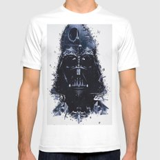 Darth Vader Mens Fitted Tee SMALL White