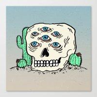 DIE IN THE DESERT Canvas Print