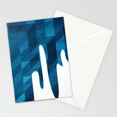 Polygon Drip Blue Stationery Cards