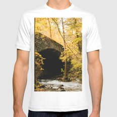 Stone Bridge SMALL White Mens Fitted Tee