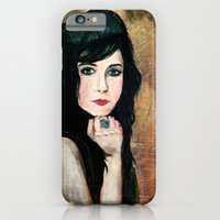 iPhone & iPod Case featuring Green Lady by alison dillon art
