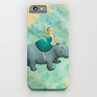 iPhone & iPod Case featuring Lovely Hippo by Sarah J