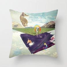 Quantic Jump Throw Pillow