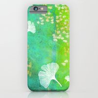 Green Ginkgo Tile iPhone 6 Slim Case