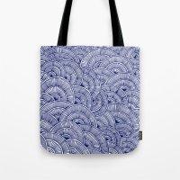 Swirls Blue Tote Bag